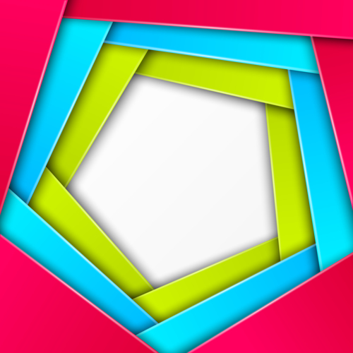 Spiral overlay color frame vector
