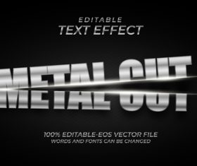 Split font text effect in vector