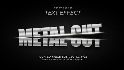 Split font text effect in vector