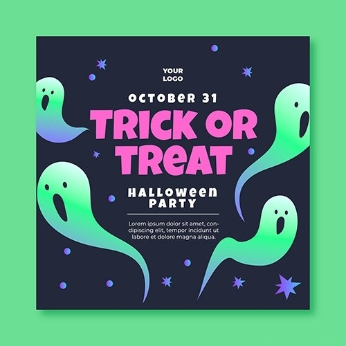 Squared Flyer Template Halloween