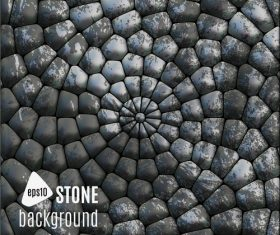Stacked arc stone wall background vector