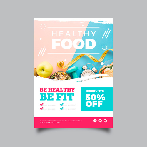 Stay healthy flyers vector