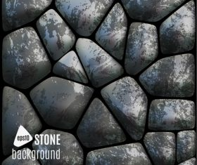 Stone wall background vector