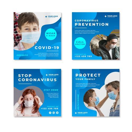 Stop corpnavirus spread flyer vector