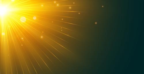 Sun glow effect vector