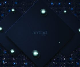 Superimposed black squares combination abstract background vector