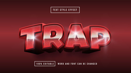 TRAP editable font effect text vector
