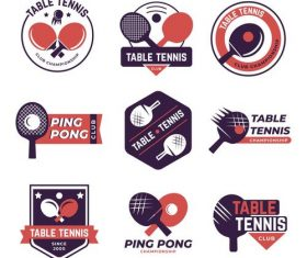 Table tennis logo vector