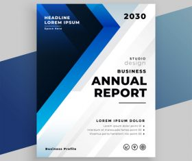 Template company brochure vector