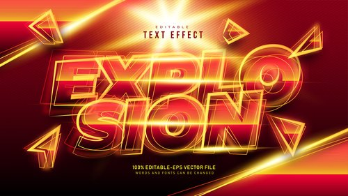 Text effect in vector