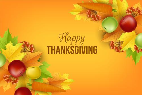 Thanksgiving Day greeting card vector
