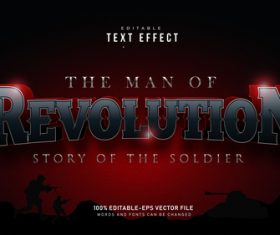 The man of revolution font text effect in vector