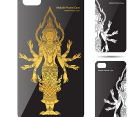 Thousand hands Guanyin art pattern phone cases cover vector