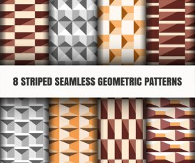 Three-color striped seamless pattern vector