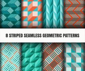 Three-dimensional seamless pattern vector