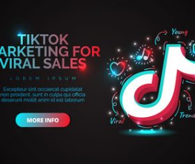 Tiktok marketing for viral sales vector