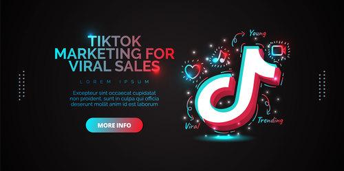 Tiktok marketing for viral sales vector