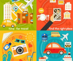 Time for travel flat concept vector