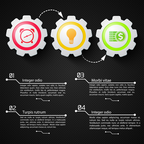 Time ideas business chart vector