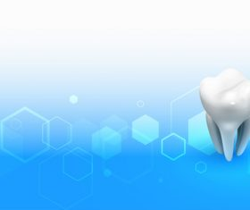 Tooth care vector