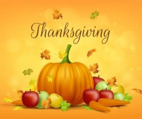Traditional festival thanksgiving day vector