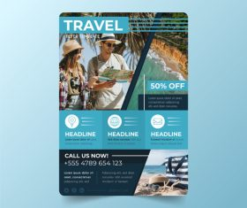 Travel agency flyer vector