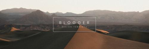 Travel blogger banner template vector