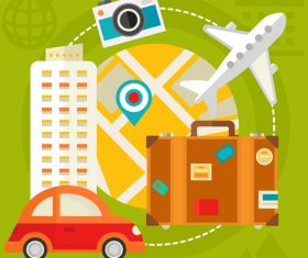 Travel flat concept vector
