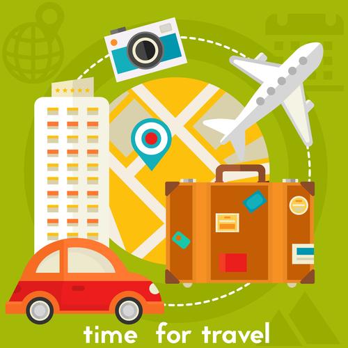 Travel flat concept vector