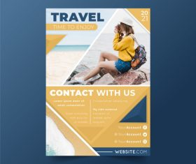 Travel flyer vector