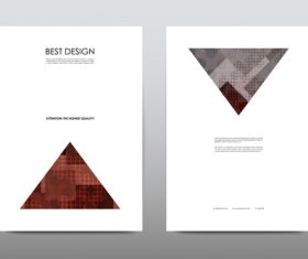 Triangle brochure layout vector