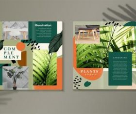 Trifold brochure vector template