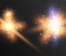 Two shiny particles vector