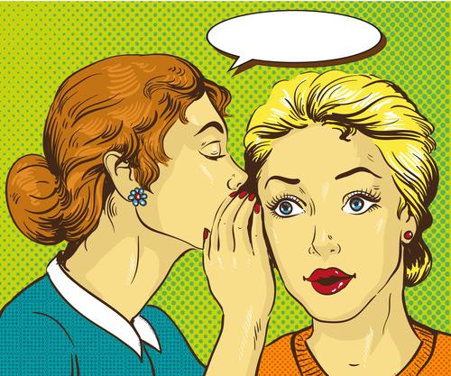 Two whispering women vector