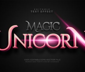 Unicorn text effect in vector