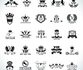 VIP black logo vector