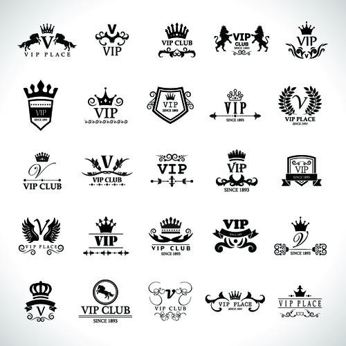 VIP black logo vector