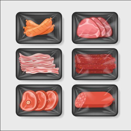 Vacuum preservation food plastic container vector