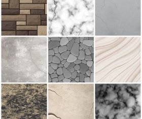 Various realistic stone texture vector