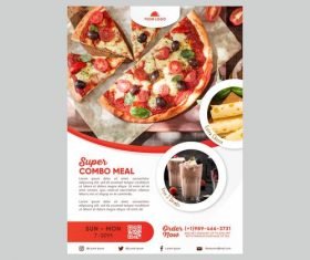 Vegetarian Pizza Flyer Vector