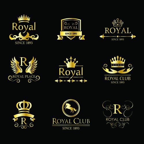 Vintage golden logo vector
