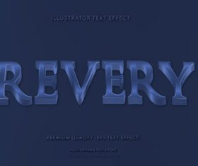 Wavey Revery Text Style vector