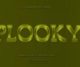 Wavey plooky text style vector