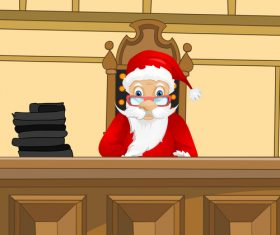 Wearing christmas costume judge vector