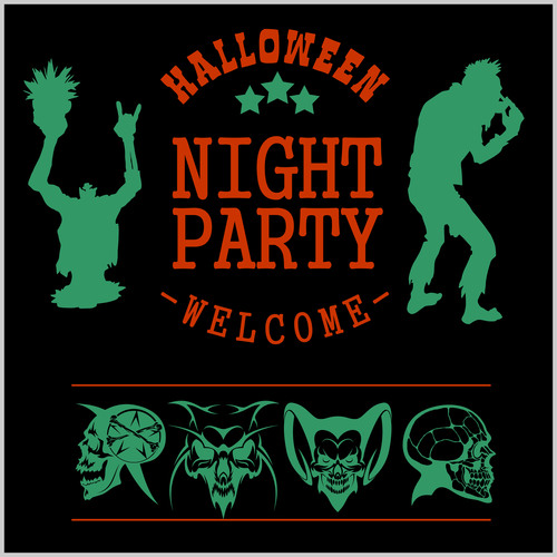 Welcome to Halloween party concept vector