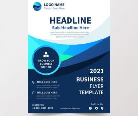 White and dark background business flyer design vector