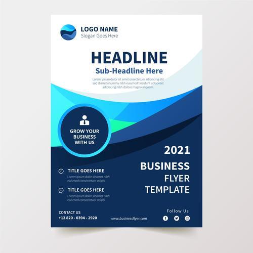 White and dark background business flyer design vector