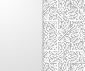 White paper cut art background vector