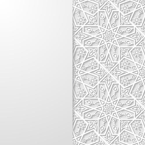 White paper cut art background vector