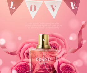 Womens favorite perfume vector